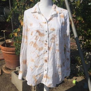 Lou & Grey Button Down Tie Dye Top